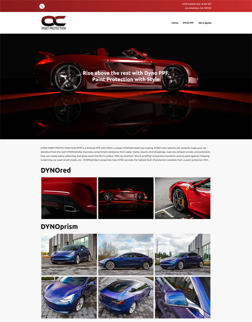 Web design for vehicle paint protection